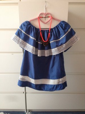Offshoulder top Blue wie neu