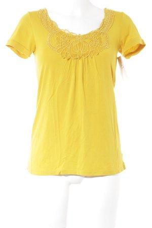 Oge & Co. Kurzarm-Bluse goldorange Elegant