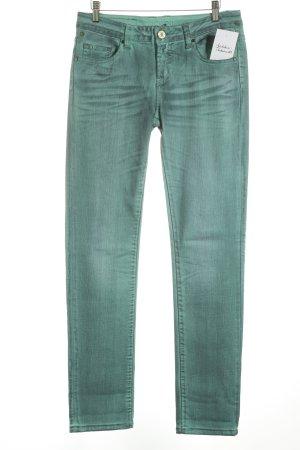 Oge & Co. Straight-Leg Jeans türkis-dunkelblau Street-Fashion-Look