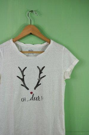 """""""Oh, deer!"""" Weihnachts Shirt mit Rudolfs Roter Nase / Rentier Geweih"""