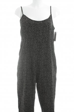 Oh my love Jumpsuit schwarz-weiß Punktemuster Casual-Look