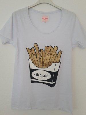 Oh Yeah! Berlin T-Shirt mit Pommes-Print
