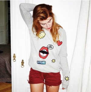 Oh Yeah Sweater mit Patches