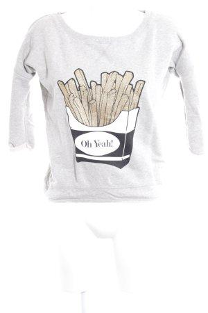 Oh Yeah! Sweatshirt Motivdruck Casual-Look