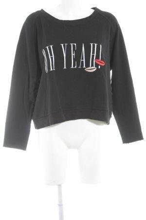 Oh Yeah! Sweatshirt Schriftzug gestickt Casual-Look