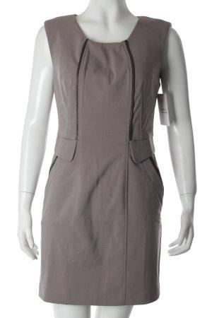 Ohmine Vestido de tela de sudadera marrón grisáceo look casual