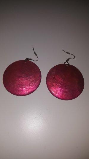 Bijou Brigitte Statement Earrings silver-colored-red