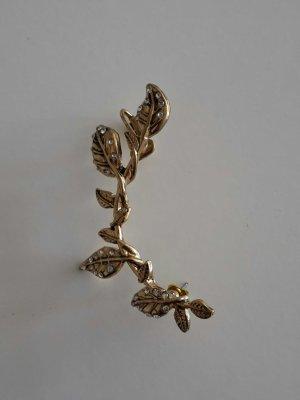 Ohrclip goldfarben Blätter