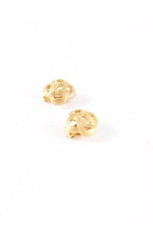 Pendientes de clip color oro elegante