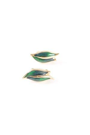 Pendientes de clip multicolor elegante