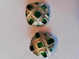 Oorclips goud-groen