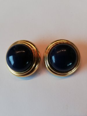 Earclip gold-colored-dark blue