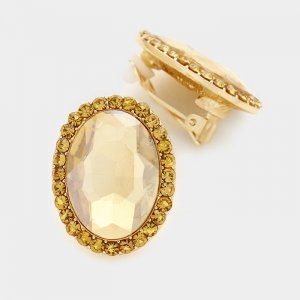 Ohrclips Clipohrringe gold beige braun nude Swarovski-Elemente