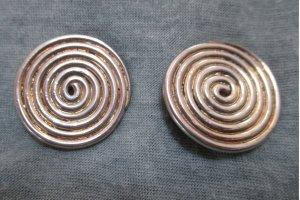 Ohrclips#Silber#Spiralendesign