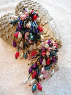 Ohrclips viele bunte Perlen Neu