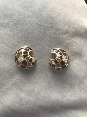 Pierre Lang Pendientes de clip color oro-negro