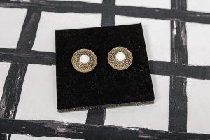 Ohrclips weiß gold Modeschmuck