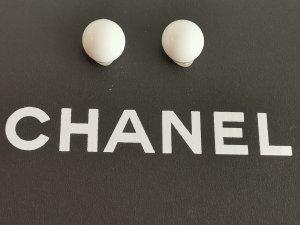Pendientes de clip blanco-color plata
