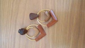 Clip d'oreille multicolore bois