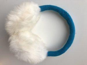 Earmuff neon blue-white