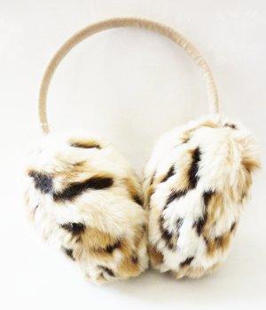 Ohrenwärmer Fellimitat Leoparden Muster angesagte warme Winter Ohrenschützer Leo