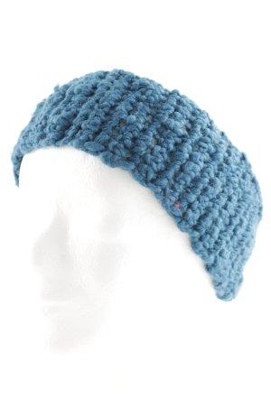 Cache-oreilles bleu pétrole style bohème