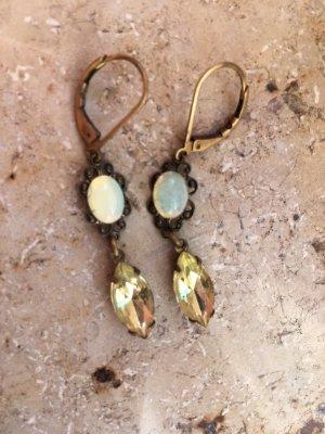 Ohrhänger gold mit Schmucksteinen