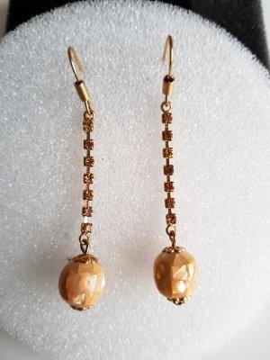 Ohrhänger Gold mit Straßsteinen Modeschmuck