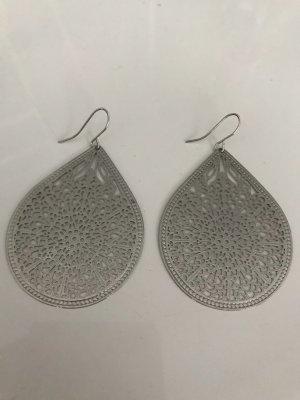 Bungeloorbellen zilver