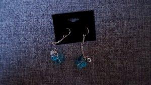 #Ohrhänger m. Schmetterling, #NEU, #silber-blau, #hochwertiger Modeschmuck
