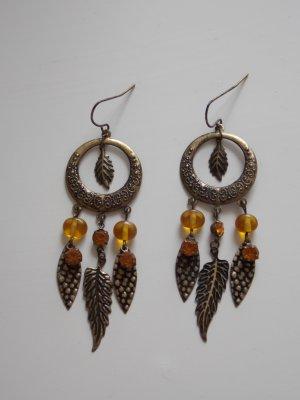 Ohrhänger mit Bronze-Federn