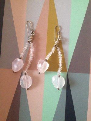 Ohrhänger mit echten Steinen, echtes Silber, rosa