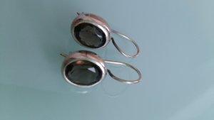 Ohrhänger mit grau/braunem Stein