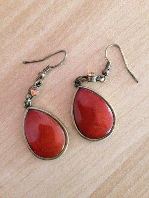 Ohrhänger mit orangen Steinen