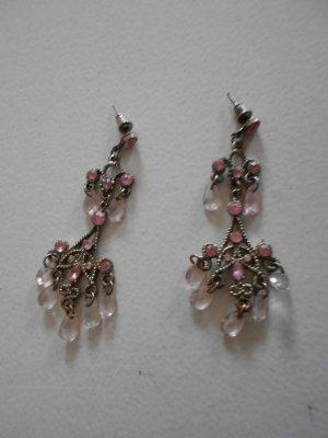 Ohrhänger mit Rosa Steinen