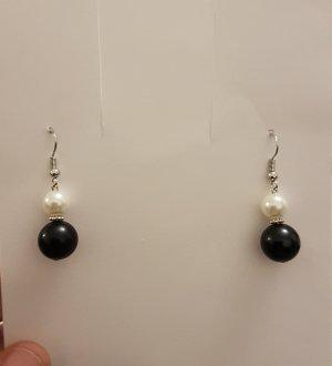 Bungeloorbellen zwart-zilver