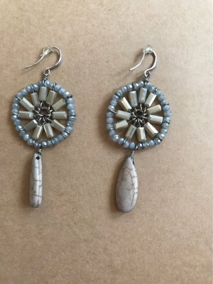 Dangle silver-colored-azure