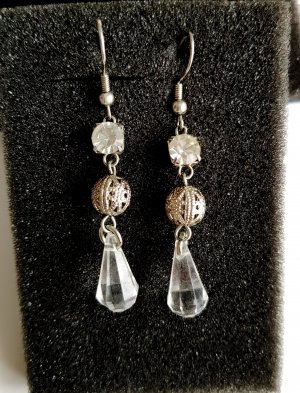 Ohrhänger Ohrringe Modeschmuck Silber Acryl Tropfen