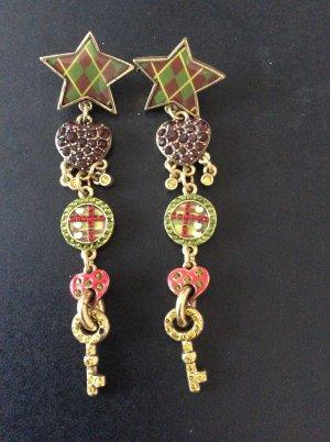 Ohrhänger Ohrringe Pilgrim rot grün gelb gold