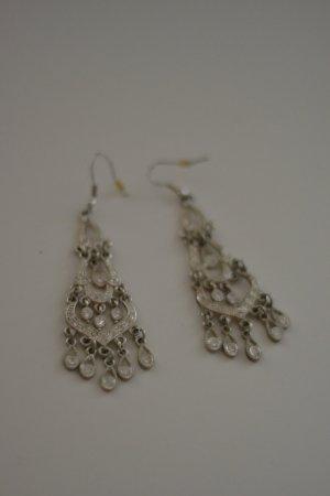 Ohrhänger Orientalisch Silber mit Steinchen