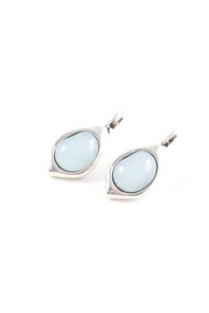 Bungeloorbellen zilver-azuur elegant