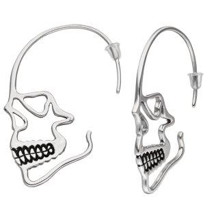 Ohrhänger Totenkopf Totenschädel Edelstahl Ohrringe
