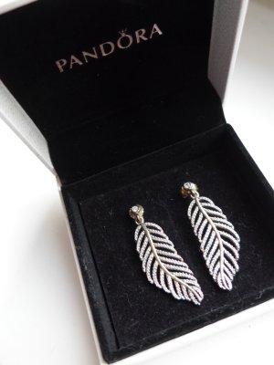 Ohringe 925 Silber, edel, funkelnde Zirkoniasteine,  Pandora