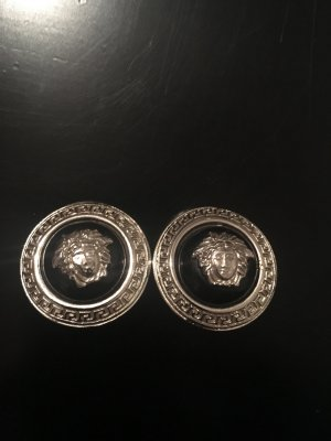 Gianni Versace Orecchino a clip nero-argento