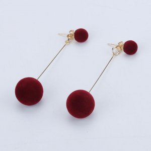 Dangle brick red-gold-colored