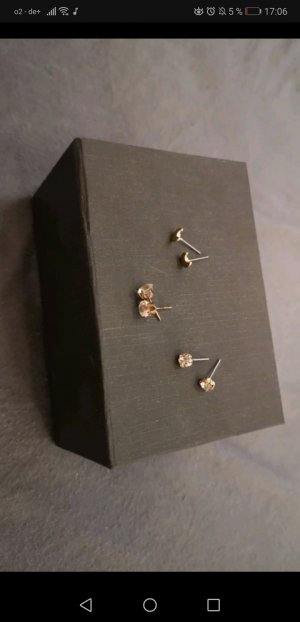 Ear stud silver-colored-gold-colored
