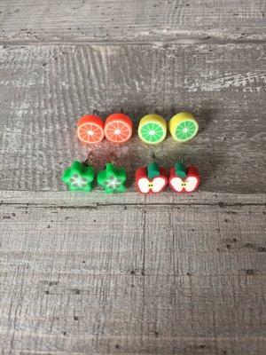 Orecchino a vite multicolore Materiale sintetico
