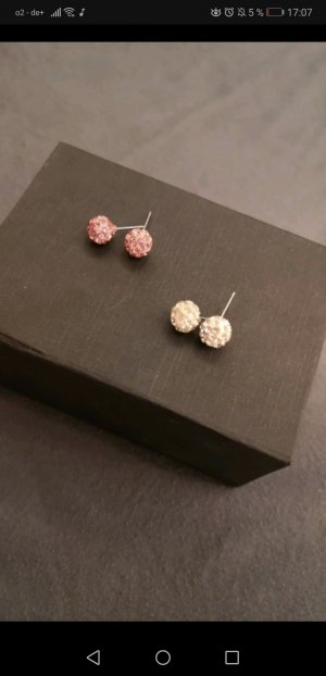 Ear stud white-light pink