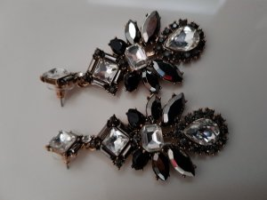 Earring black-silver-colored