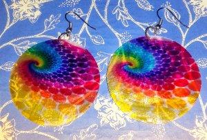 Orecchino a pendente multicolore